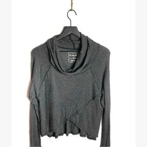 Free People women's grey cowl neck long sleeve M